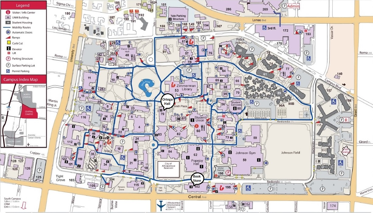 Campus Map :: Spanish & Portuguese | The University of New Mexico